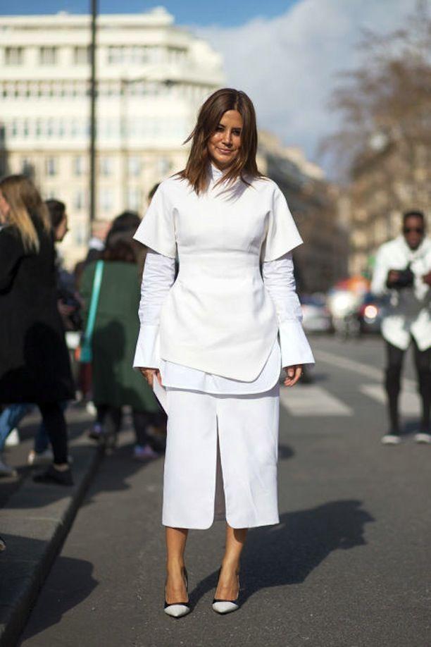 all white everythang. Ceec in Paris. #ChristineCentenera