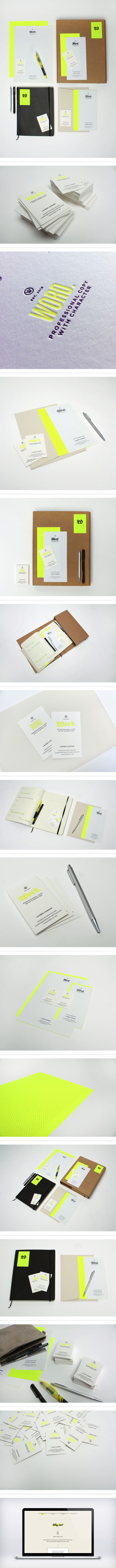 Word // by Passport // via Behance // branding // identity // corporate id // consistency // identity system