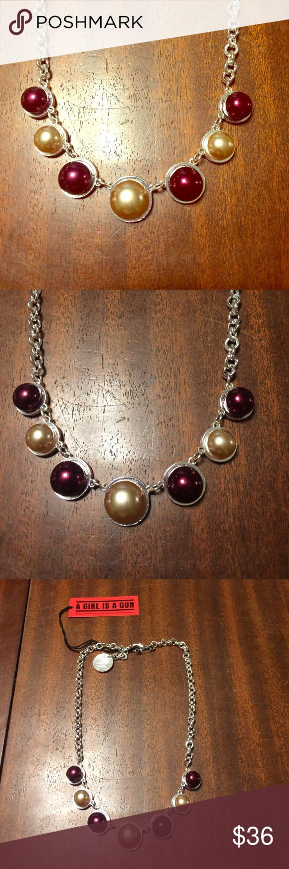 Eldorado Club Bordeaux Pearl necklace! BNWT! Eldorado Club brand vintage inspired Bordeaux Pearl necklace. Vintage Jewelry Necklaces