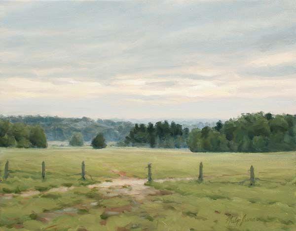 Artwork by Philip Juras - Pastures, Wilkes County, GA
