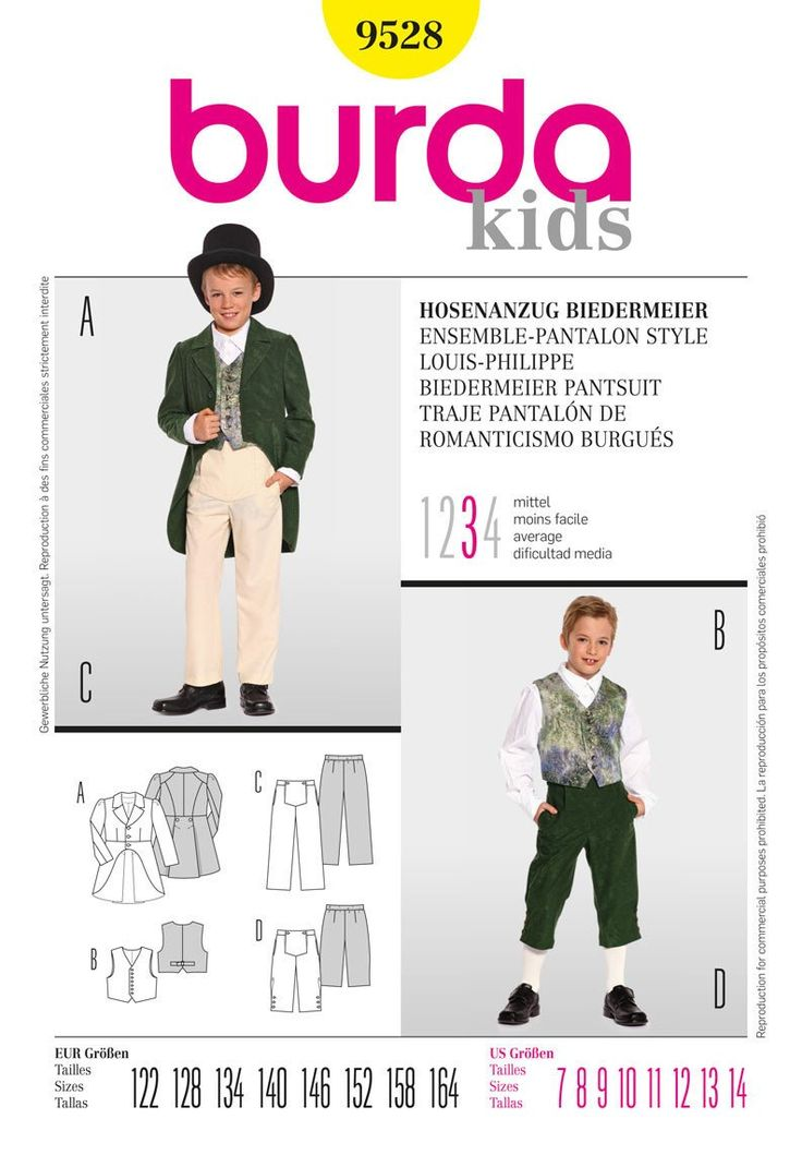 BD9528 Boys' Trousers & Tails