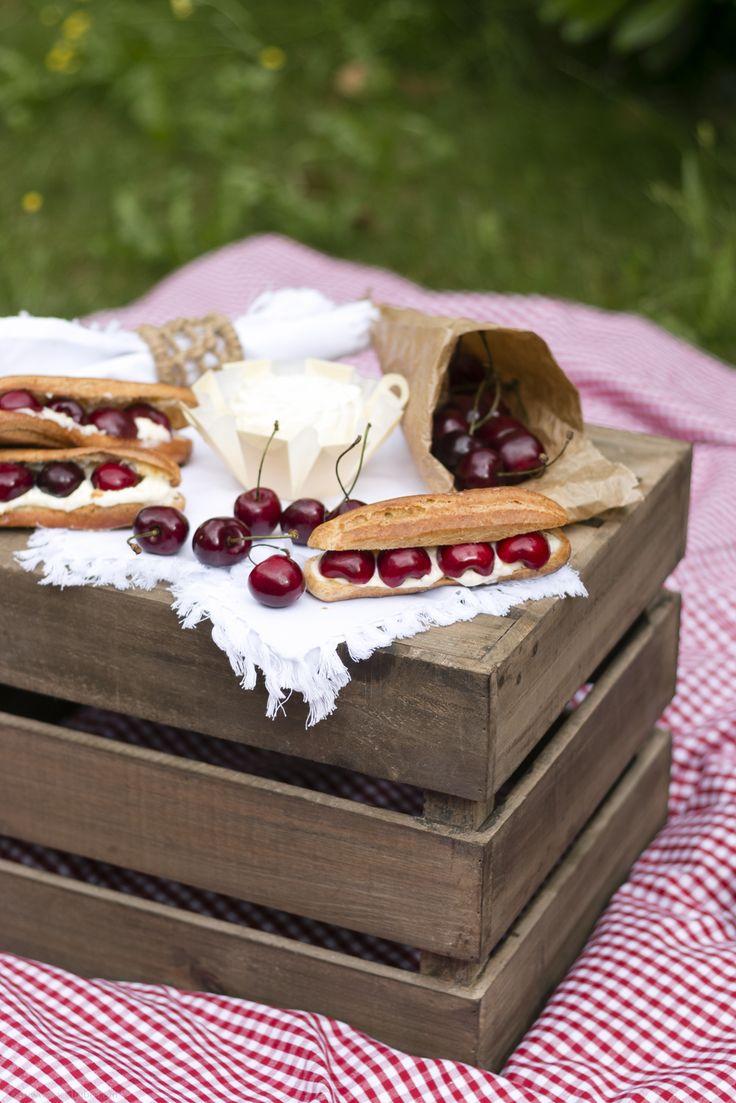 Backbube - Wir liiiiieben Kirschen mit Géramont Frisch-Genuss im Sommer. #lassunspicknicken #cestbon #geramontpicknickrezept