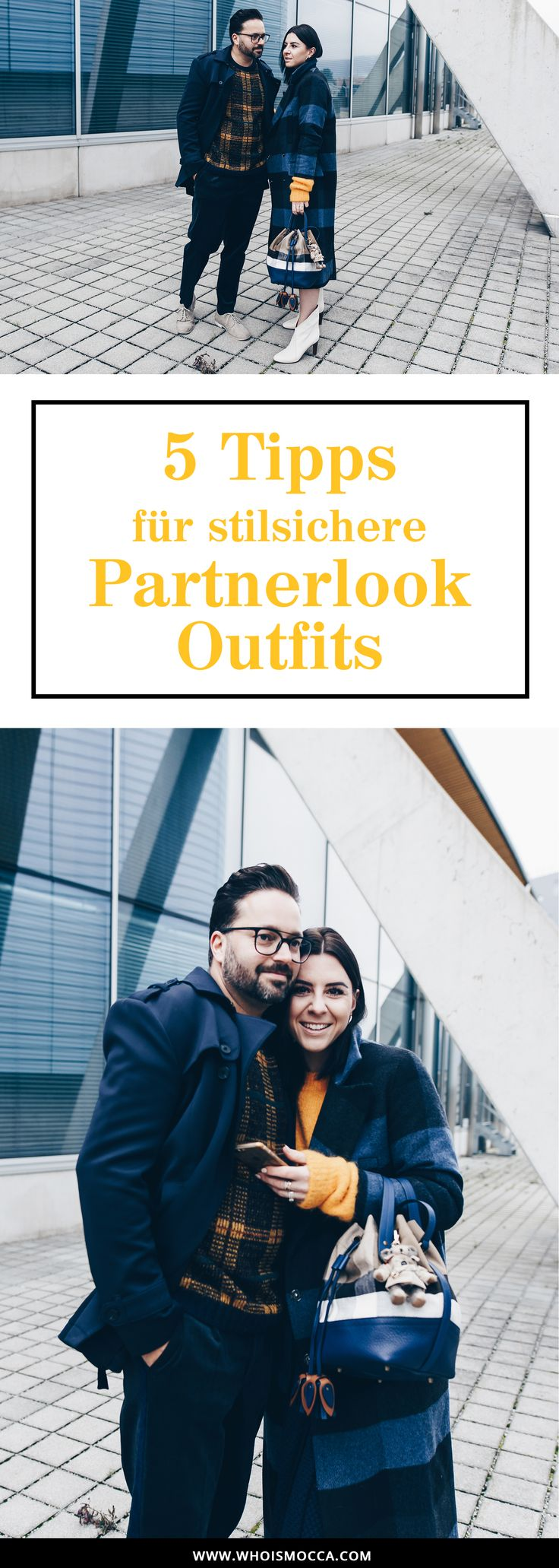 Partnerlook Pärchen Outfits, Partnerlook Styling, Karo Mantel, Winter Trends, Chloe Boots, Männer Outfit, Fashion Blogger, Burberry Beutel, Senfgelber Pullover, Streetstyle, Herbst/Winter Outfits, www.whoismocca.com