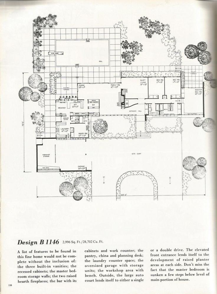 17 best images about mid century architecture on pinterest for Vintage ranch house plans