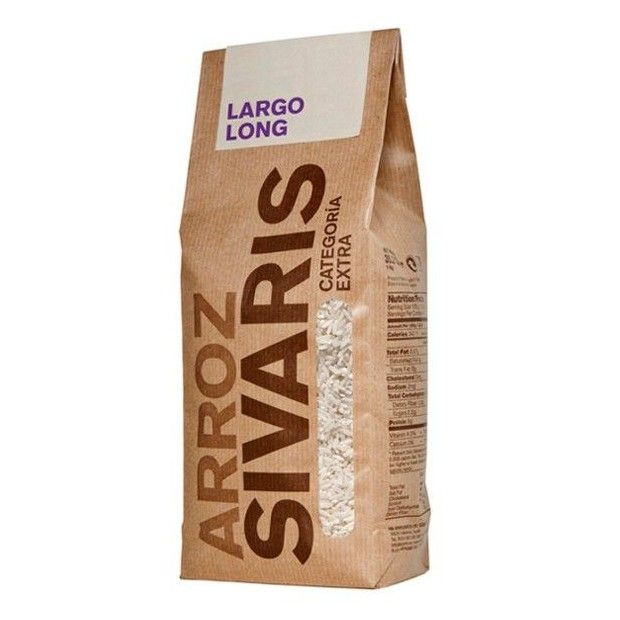 La tienda online gourmet y delicatessen Érase un gourmet vende arroz largo marca Arroz Sivaris. Es de la variedad índica, de grano largo y delgado