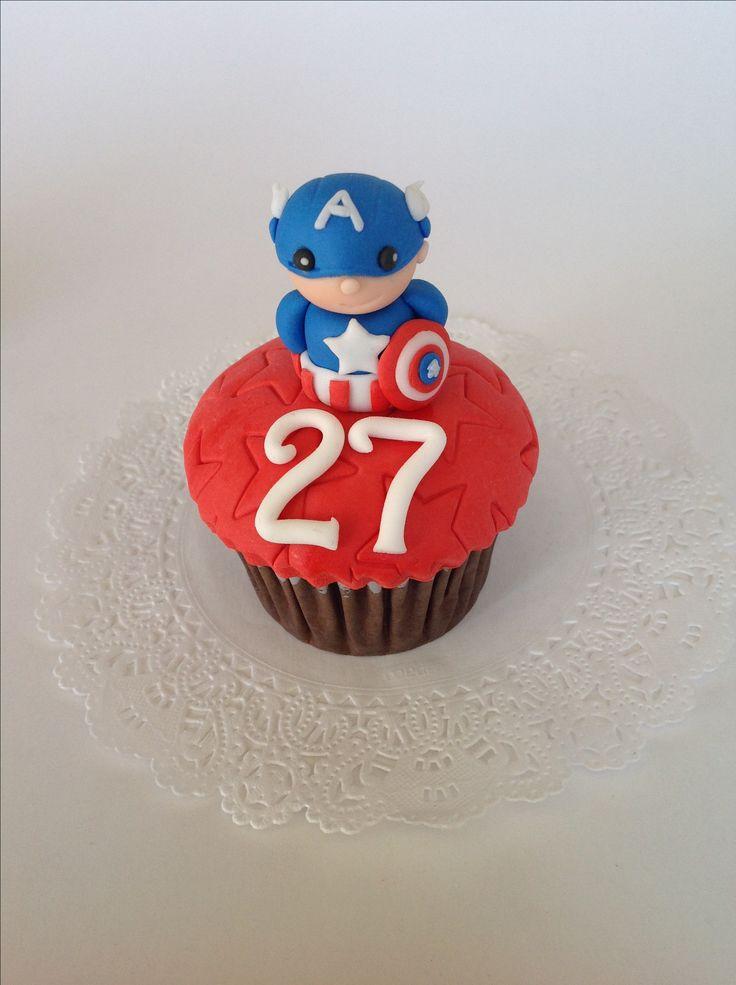 Cupcake capitan America