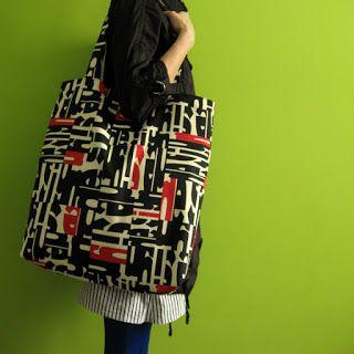 lukola handmade // Literkowa duża torba (ecru) // Letters big bag (ecru - ivory))