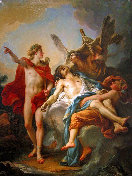 Jean-Simon Berthelemy - Apollo and Sarpedon.