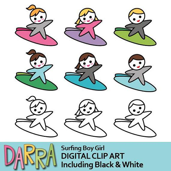 Surf's up clipart surfing clip art / surf board clipart