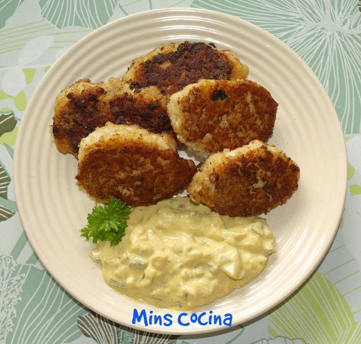 Mins cocina: Fiskefrikadeller con salsa remoulade (albóndigas de pescado danesas)