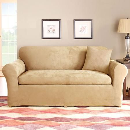 Sectional Sofas  Piece Loveseat Slipcover