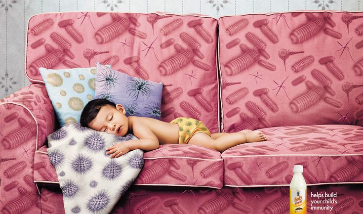 Scotts Emulsion: Sofa  Helps build your child's immunity. Advertising Agency: Ogilvy & Mather, Singapore Executive Creative Director: Sonal Dabral Creative Director: Sonal Dabral Copywriters: Tham Yin May, Renee Lim Art Directors: Roy Wisnu, Eric Yeo Photographer: Xuan Ong Illustrator: Dee Dee Account Supervisors: Lim Hui Tze, Michelle Li