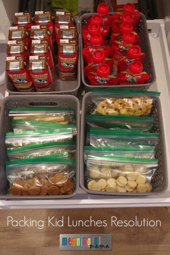 Packing Kid Lunches Resolution - Making Lunch Packing Easier and Faster #HorizonSnacks #ad @horizonorganic