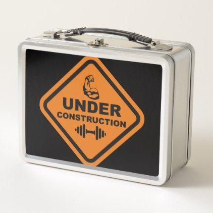 Body Under Construction Metal Lunch Box - kitchen gifts diy ideas decor special unique individual customized