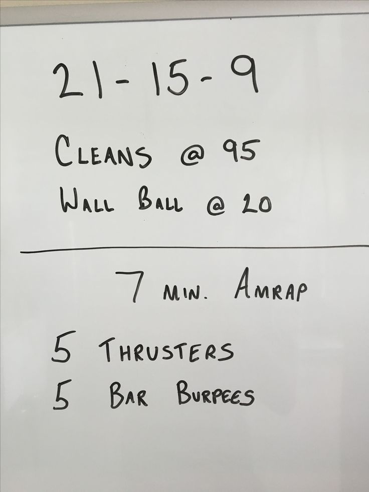Workout from the garage - back to back, no breaks
