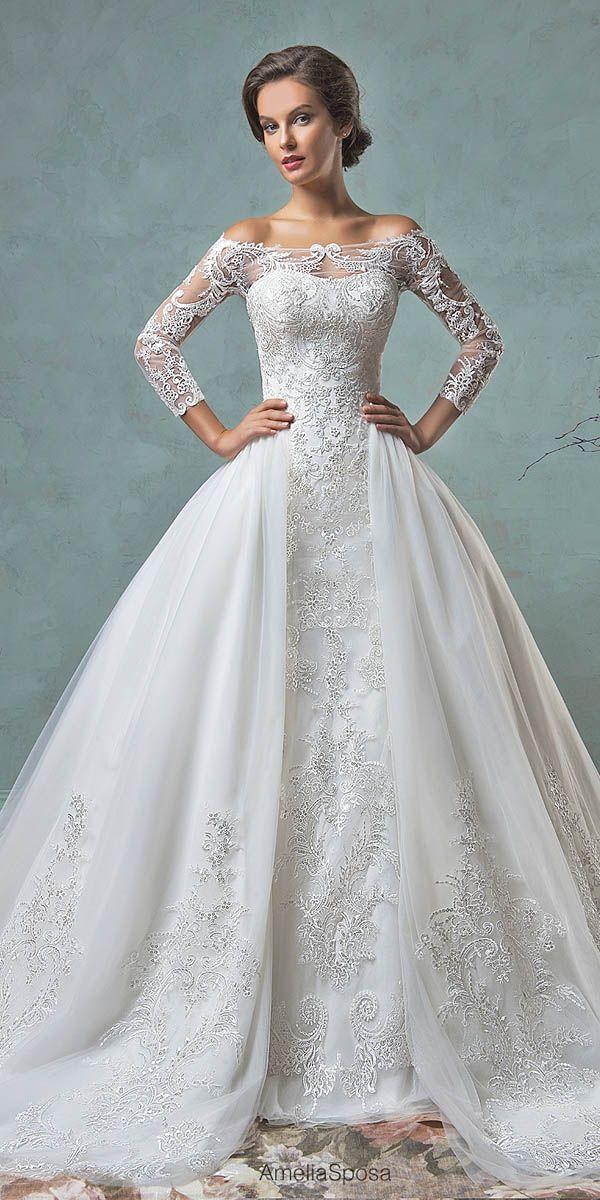 Wedding Ball Gowns By Amelia Sposa Andamp; Ronald Joyce ❤ See more: http://www.weddingforward.com/wedding-ball-gowns/ #weddings