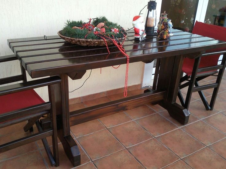 Extraordinary garden table handmade by geo vel