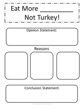 Let's Talk Turkey!- Argument and Informational writing activities for Thanksgiving-common core aligned-$