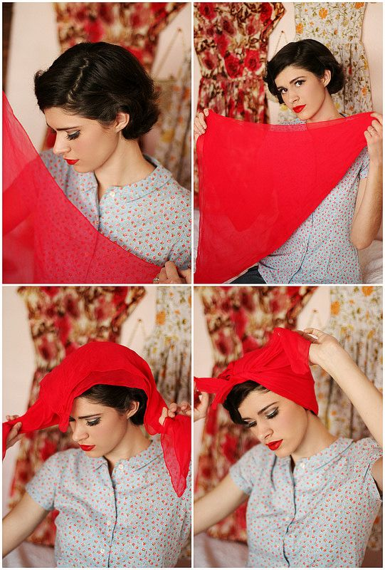How to tie a 1950's style headscarf // Into the Woods