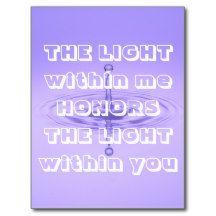 #Namaste Greeting #Inspirational #Purple White Quote #Postcards