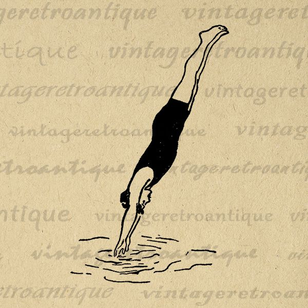 Antique Diver Image Graphic Printable Digital Download Illustration Vintage Clip Art Jpg Png Eps Print 300dpi No.4164 @ vintageretroantique.com #DigitalArt #Printable #Art #VintageRetroAntique #Digital #Clipart #Download #Vintage #Antique #Image #Illustration