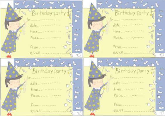 inviti di compleanno da stampare di Behappycreation su Etsy, €3.50