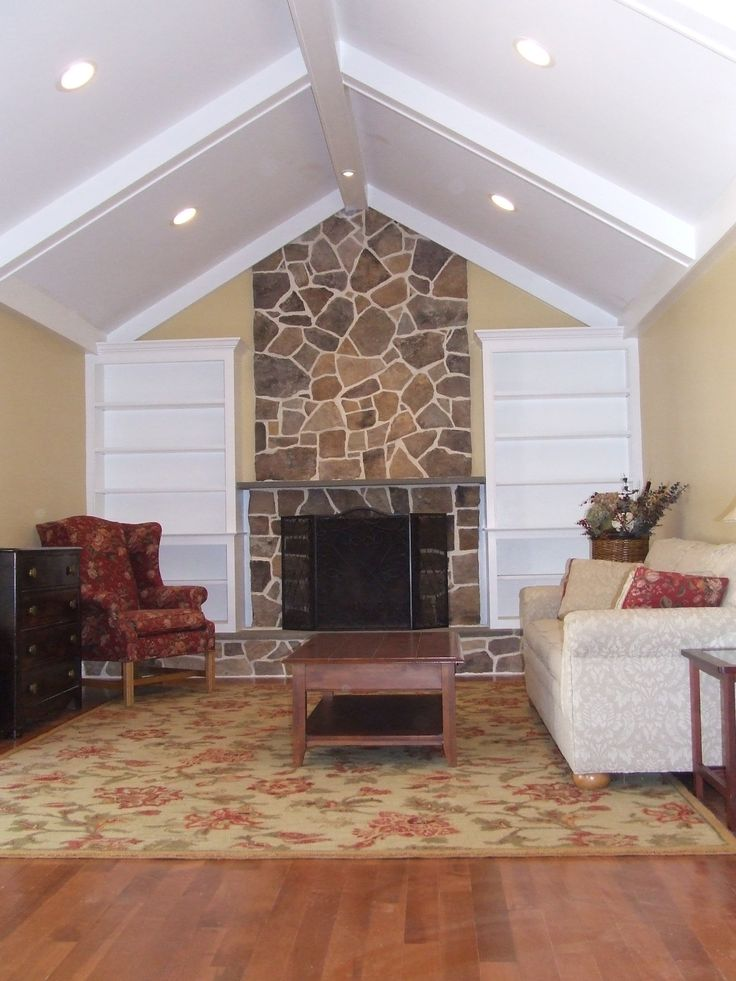 This vaulted ceiling might work for the family room above my