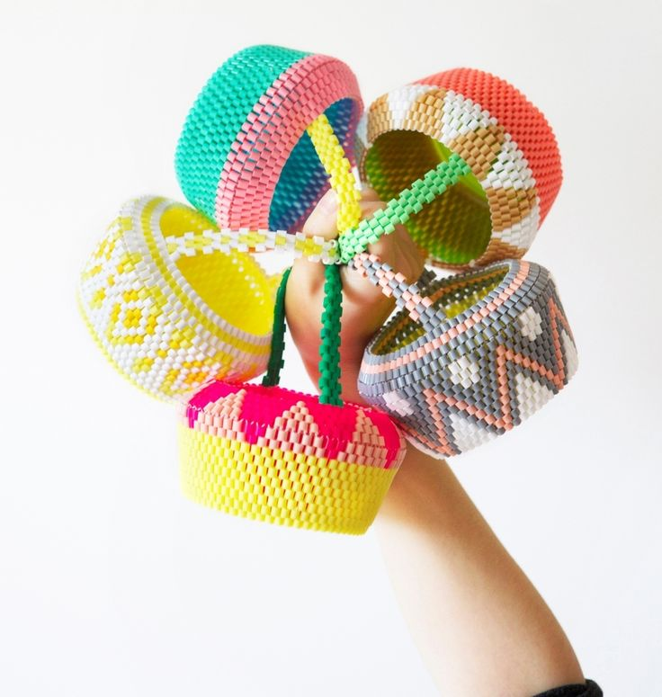 POP! New perler bead basket collection by Sarah-Jane Brand • Hejsan Goods