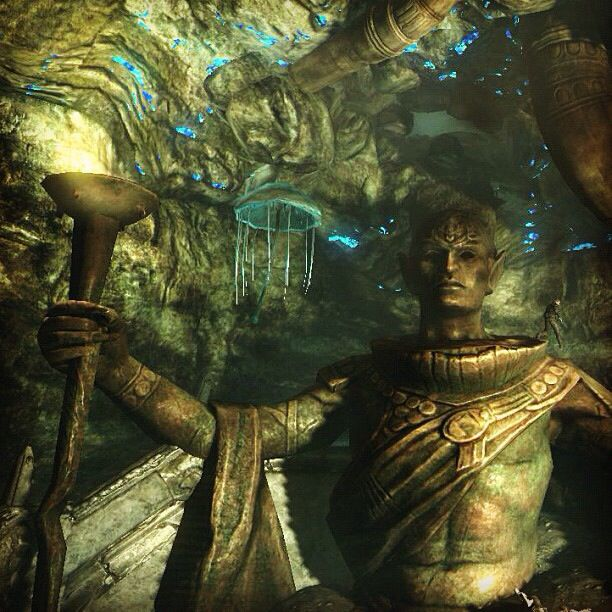 This was a scary quest in Skyrim for me lol I know its a game but.. Im so hydrophobic lol