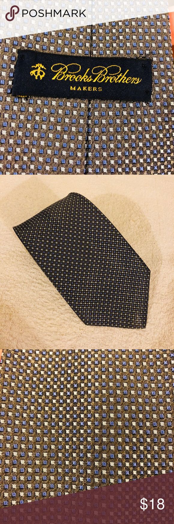 Brooks Brothers NEW Grey w/ Blue Check Silk Tie Brooks Brothers Grey With Blue and Light Grey Check Woven Silk Necktie! NEW WITHOUT TAGS! Please make reasonable offers and bundle! Ask questions! Brooks Brothers Accessories Ties