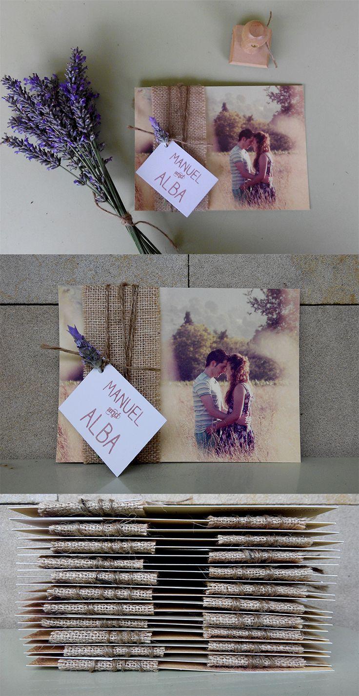 Como os prometimos ayer os enseñamos la invitación de boda de Manuel and Alba. Para ver el diseño completo de ésta preciosa postal os la han tenido que dar en mano los novios, eso sí, si sóis afortunados. Invites. Un poco de  DIY. #preboda #felicescomoperdices #mya #reportajequetonodeverde