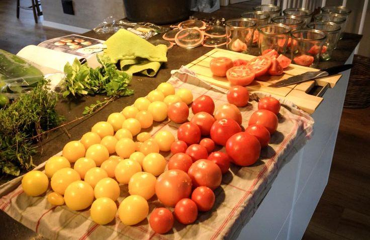Henkogning af tomater — blomsterhaven.dk