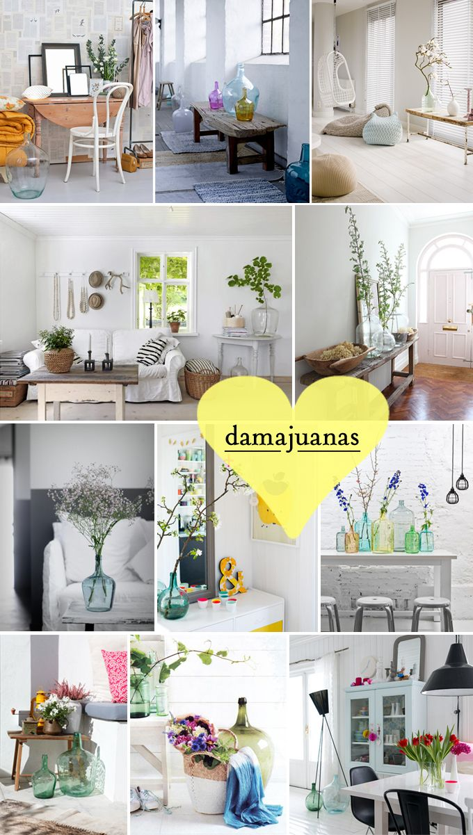 25 best damajuana images on pinterest bottle vases and for Ideas para decorar apartamentos