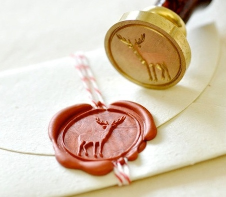 deer wax stamp, I really want a stamp set to call my own. I want to send mail old school style. I wonder if the wax would be intact upon arrival.