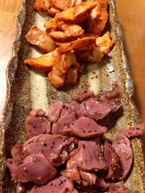 鶏の砂肝と笹身の燻製です。 ちょいと飲み過ぎた感が、、。 - 53件のもぐもぐ - 砂肝と笹身の燻製 by lemonpai2001
