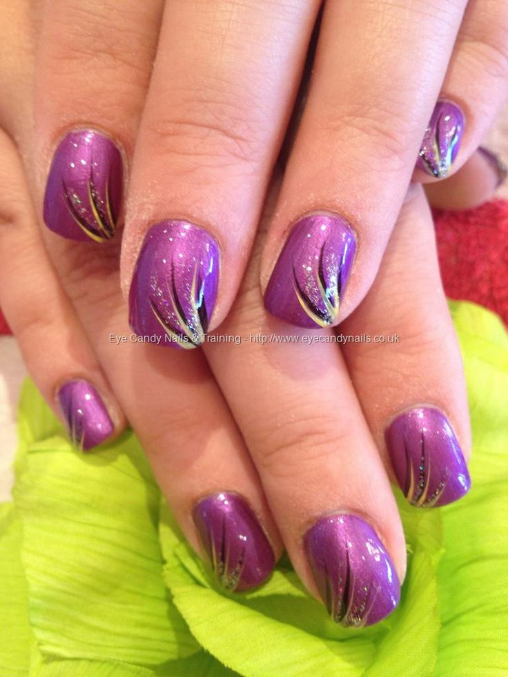 28 best nails and shellac images on pinterest clothes enamels purple polish with freehand flick nail art i do all my nails freehand prinsesfo Images