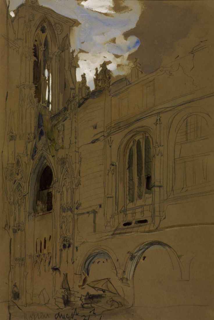 James Holland, 'Study of Architecture at Rouen' date not known