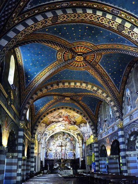 The Cathedral in Bobbio,Italy built in 1075