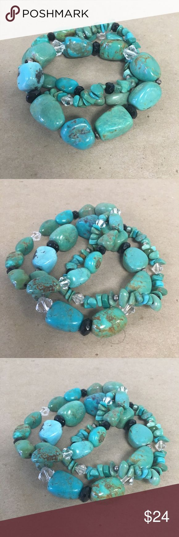 Silpada 3 Turquoise Bracelet Set Silpada 3 Turquoise Bracelet Set - Perfect Condition, Orig. $99 Inventory #  4390-113 Everything we sell is 100% guaranteed authentic! We list dozens of items every day, so check our other listings out! We are Meta Exchange, a resale store in Baton Rouge, LA! Sorry, no trades. REASONABLE offers will be considered. We ship same/next day. Thanks! Follow us: FB metaexchange  IG meta225 Silpada Jewelry Bracelets