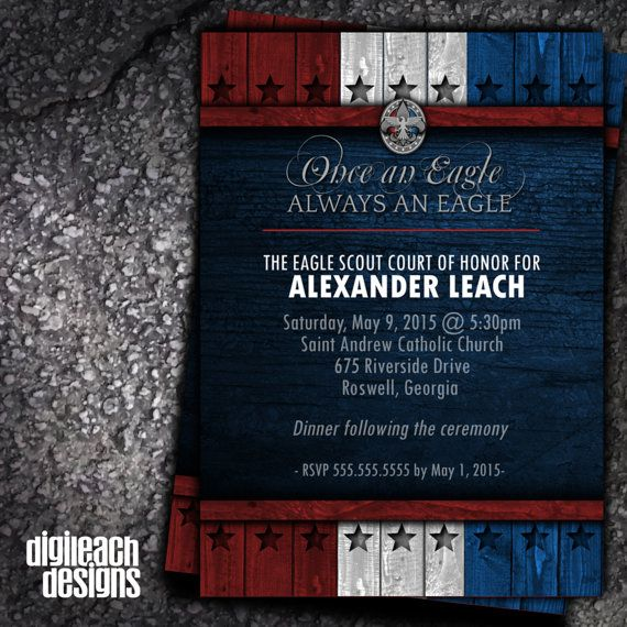 Eagle Scout Court of Honor Invitation: Always by ...