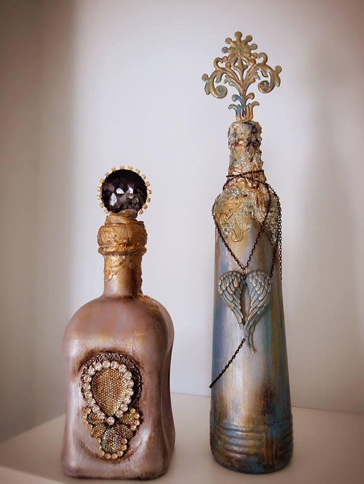 #vintage #old #alternative_bottles #shabby #handmade #glass #crystal #angelwings