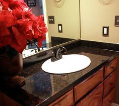 Yes, A VIDEO Tutorial To Make This Un Scary!   Update Your · Epoxy  CountertopPaint Bathroom CountertopsRefinishing Laminate ...