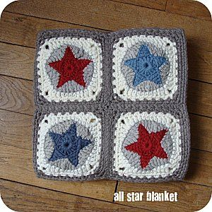 All Star Blanket Motif: Star to Circle to Square.  Need to figure out this pattern!