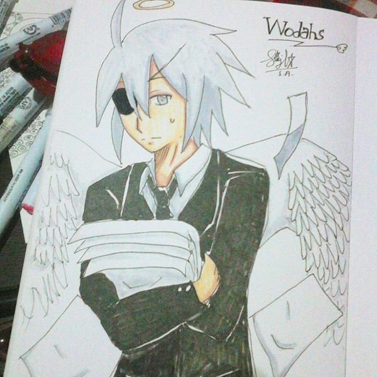 Done. Wodahs from Gray Garden rpg  #drawing #doodle #anime #animeartshelp #art #fanart #manga #wodahs #graygarden #mogeko #mogemoge #sketch #sketchart #instamood #instagram #instaart