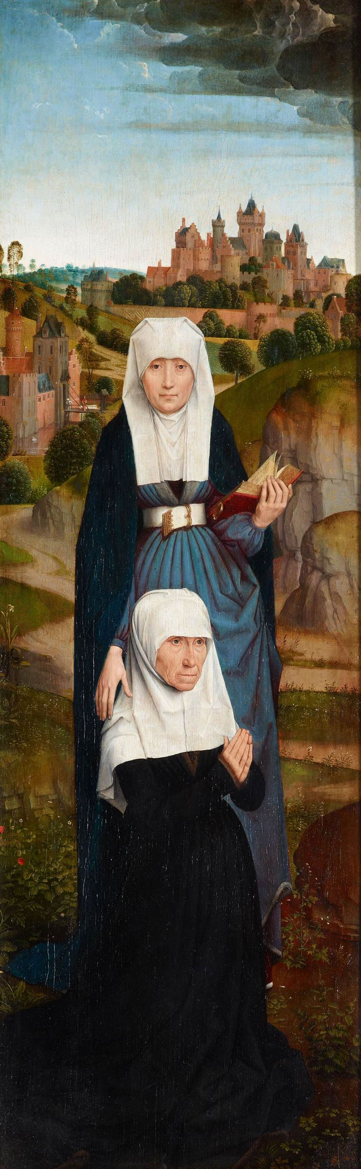 Hans Memling | 1430/40 – 1494 | Old Woman at Prayer with St. Anne | The Morgan Library & Museum