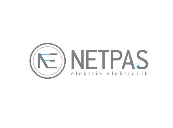 """""""Netpaş"""" Electronic and Fiber Optic  Logo Design"""
