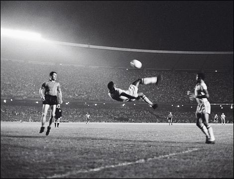And then there's soccer players . . . Pele's Bicycle Kick image not available.