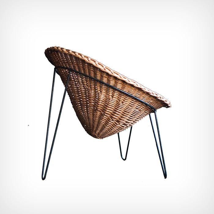 Chaise en osier (circa 1950) Mathieu Matégot