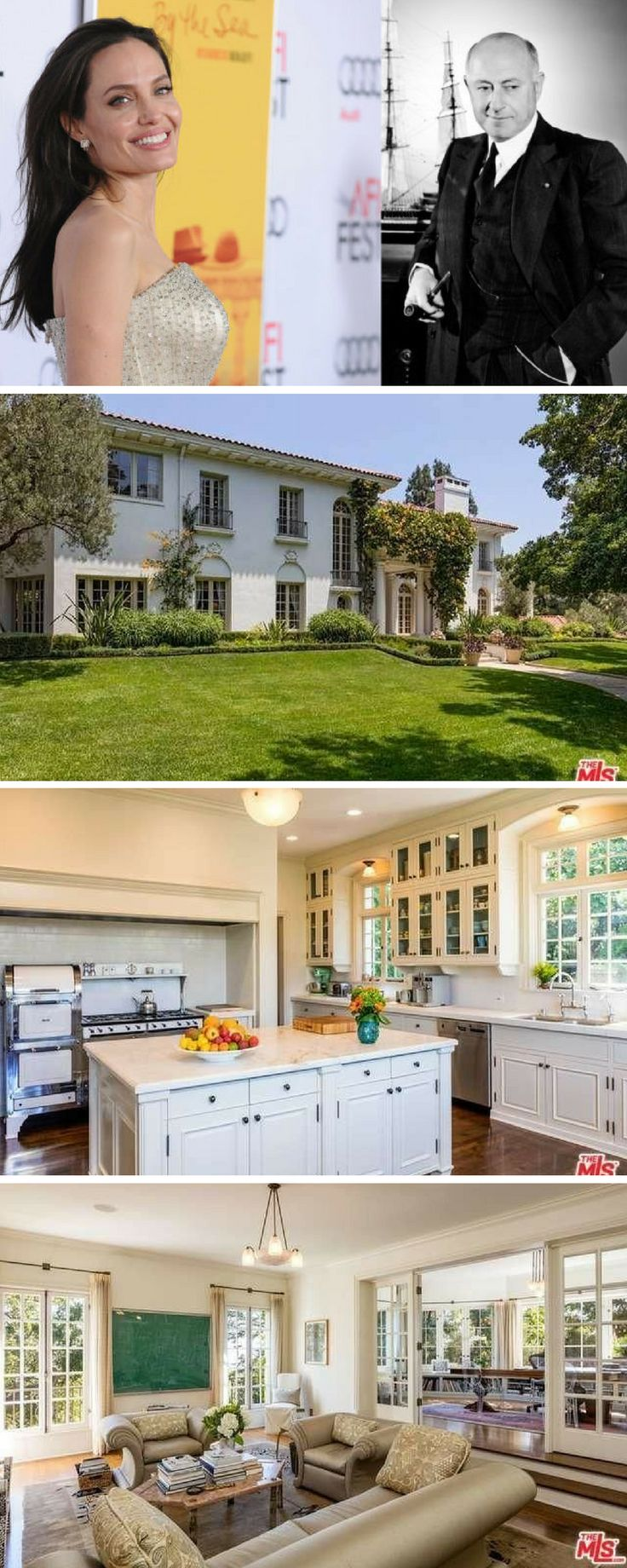 It appears Angelina Jolie isn't straying far from the Hollywood-area home she shared with Brad Pitt. Vanity Fair and other sources report she's entered into escrow on a $25 million Los Feliz estate once belonging to iconic director Cecil B. DeMille.