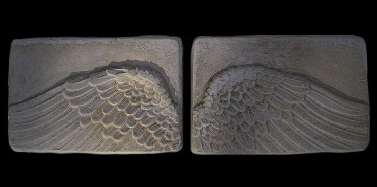 Wings of Icarus Greek Mythology sculpture plaqueS .